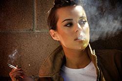 Giving up smoking reduces dark lips