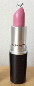 MAC Satin Lipstick in Snob for dark lips