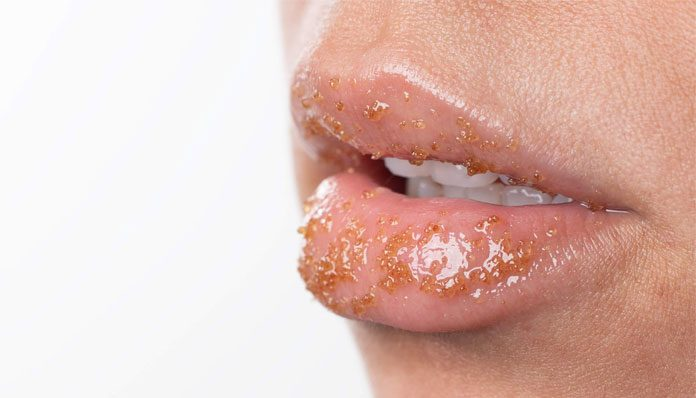 how to exfoliate lips with homemade scrubs