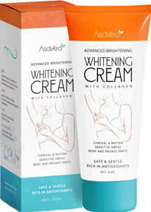 AsaVea Intimate Parts Whitening Cream for dark nipples
