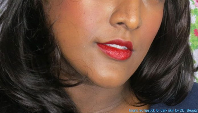 bright red lipstick for dark skin
