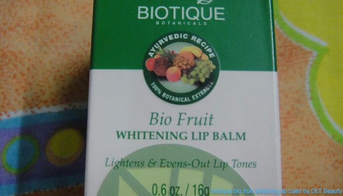 biotique bio fruit whitening lip balm