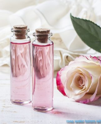 rose water toners with witch hazel for facial skin