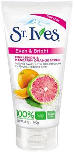 2. St. Ives Even & Bright Pink Lemon and Mandarin Orange Scrub
