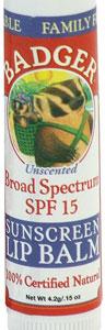 best organic lip balm with spf